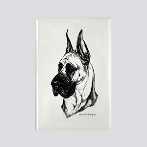 Fawn Cropped Dane Rectangle Magnet