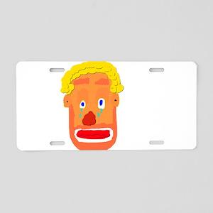 Sad Clown Aluminum License Plate