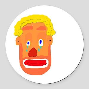 Sad Clown Round Car Magnet