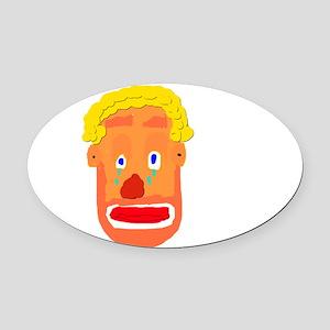 Sad Clown Oval Car Magnet