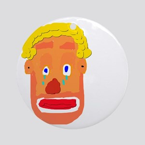 Sad Clown Round Ornament