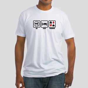 Eat, Sleep, Cribbage Fitted T-Shirt