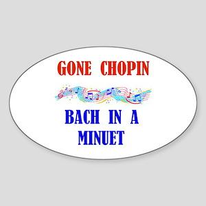 MUSIC GREATS Oval Sticker