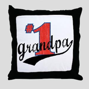 #1 Grandpa Throw Pillow