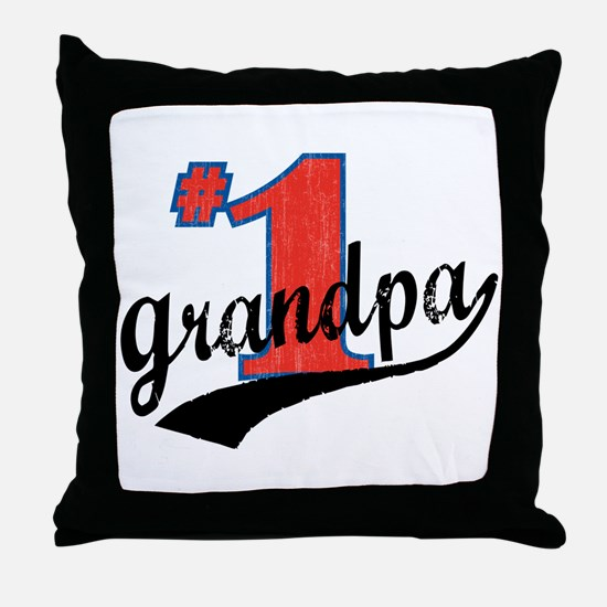 #1 Grandpa Throw Pillow