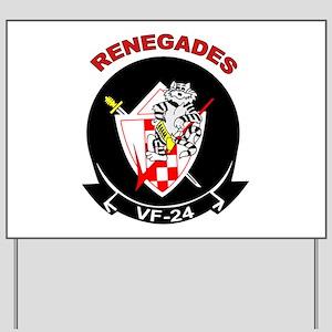 VF 24 Renegades Yard Sign