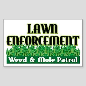 Lawn Enforcement Rectangle Sticker