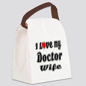 I Love My DOCTOR Wife Canvas Lunch Bag
