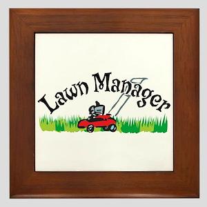 Lawn Manager Framed Tile