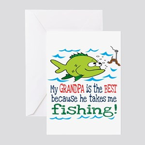 My Dad Takes Me Fishing Greeting Cards (Package of