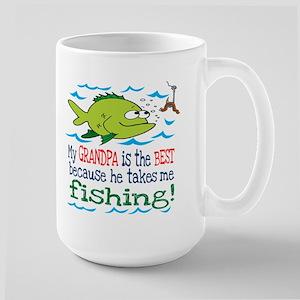 My Dad Takes Me Fishing Large Mug
