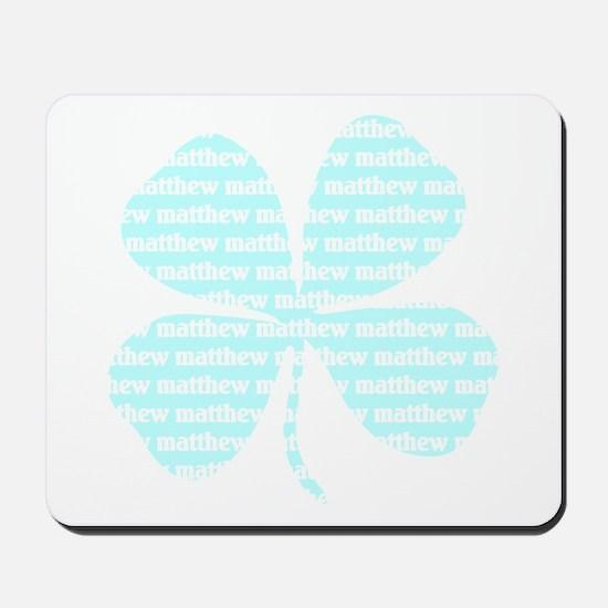 Matthew Irish Shamrock Mousepad