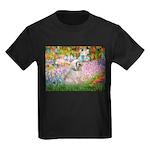 Garden / Lhasa Apso Kids Dark T-Shirt