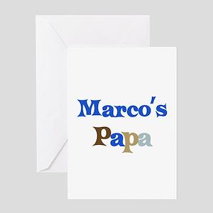 Marco's Papa Greeting Card