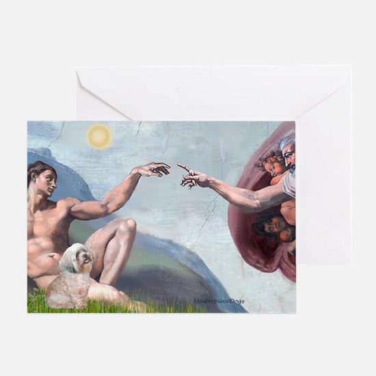 Creation / Lhasa Apso Greeting Card