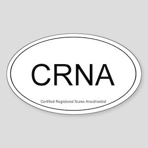 Nurse Anesthestist Oval Sticker