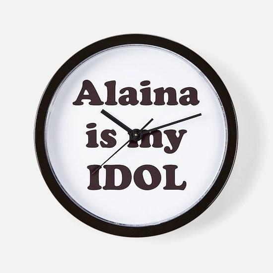 Alaina is my IDOL Wall Clock