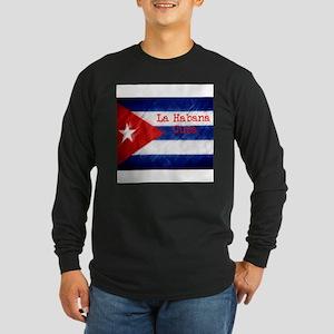 La Habana Cuba Flag Long Sleeve T-Shirt