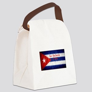 La Habana Cuba Flag Canvas Lunch Bag