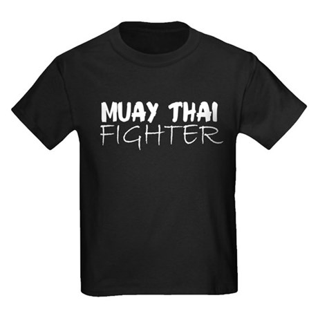 Muay Thai Fighter Kids Dark T-Shirt