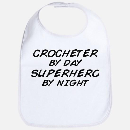 Crochet Superhero by Night Bib