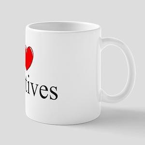 """""""I Love (Heart) Sedatives"""" Mug"""