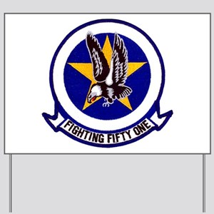 VF 51 Screaming Eagles Yard Sign