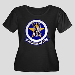 VF 51 Women's Plus Size Scoop Neck Dark T-Shirt