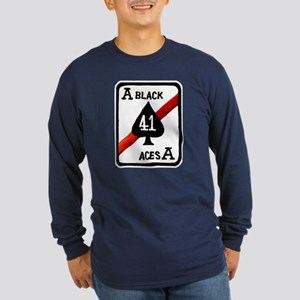 VF 41 / VFA 41 Black Aces Long Sleeve Dark T-Shirt