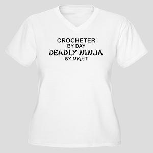 Crochet Deadly Ninja Women's Plus Size V-Neck T-Sh