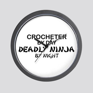 Crochet Deadly Ninja Wall Clock