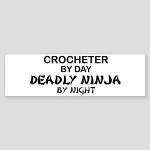 Crochet Deadly Ninja Bumper Sticker