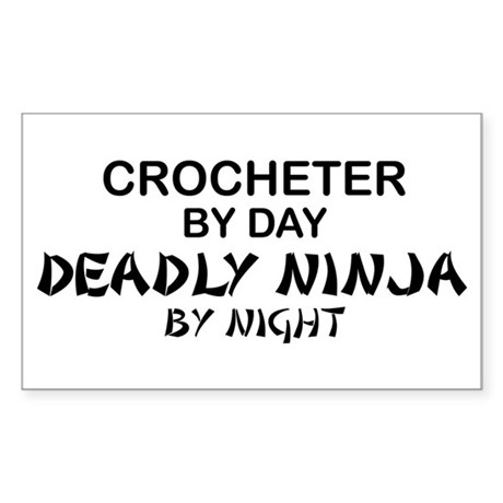 Crochet Deadly Ninja Rectangle Sticker