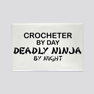 Crochet Deadly Ninja Rectangle Magnet