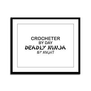 Crochet Deadly Ninja Framed Panel Print