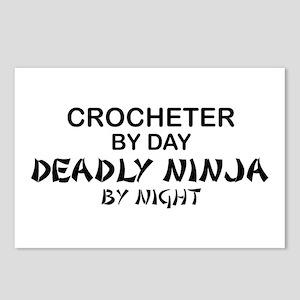 Crochet Deadly Ninja Postcards (Package of 8)