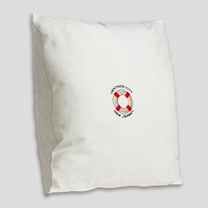 New Jersey - Ventnor City Burlap Throw Pillow
