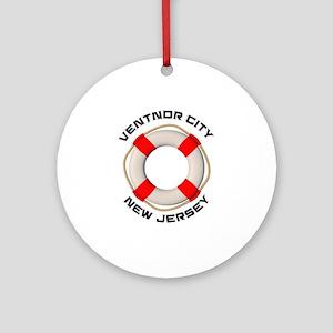 New Jersey - Ventnor City Round Ornament