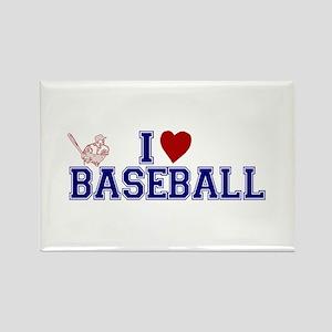 I Love Baseball Rectangle Magnet