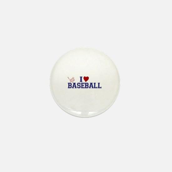 I Love Baseball Mini Button