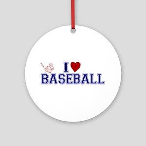 I Love Baseball Ornament (Round)