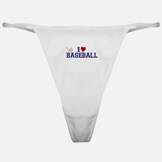 I Love Baseball Classic Thong