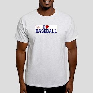 I Love Baseball Light T-Shirt