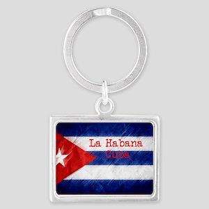 La Habana Cuba Flag Keychains