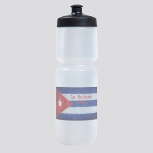La Habana Cuba Flag Sports Bottle