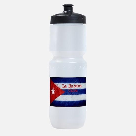 La Habana Cuba Flag Sports Bottle