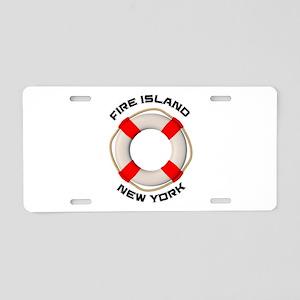 New York - Fire Island Aluminum License Plate