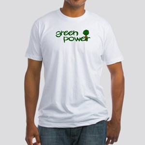 Green Power Fitted T-Shirt