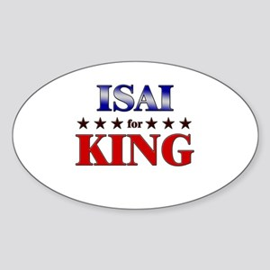 ISAI for king Oval Sticker