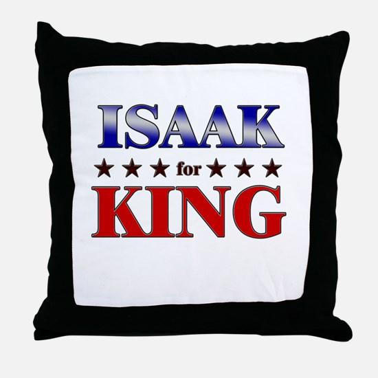 ISAAK for king Throw Pillow
